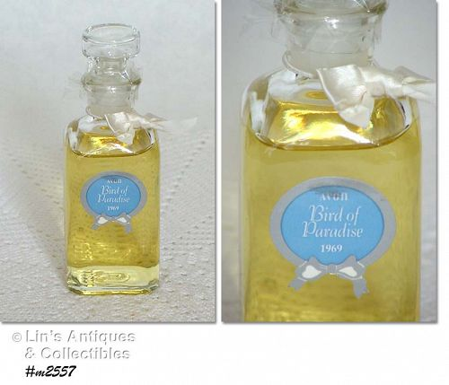 VINTAGE AVON BIRD OF PARADISE COLOGNE DATED 1995