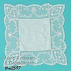 WHITE / WEDDING HANDKERCHIEF