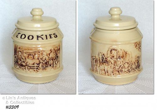 McCOY POTTERY -- FRONTIER FAMILY COOKIE JAR