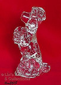 CLEAR GLASS POODLE FIGURINE