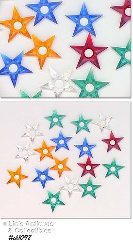17 PLASTIC STAR SHAPED CHRISTMAS TREE LIGHT REFLECTORS
