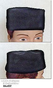 BLACK VELVET PILL BOX HAT