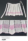 WHITE AND PINK CROCHET APRON
