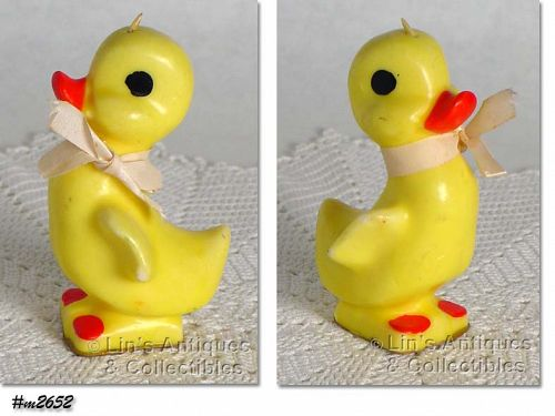 VINTAGE GURLEY YELLOW DUCK EASTER CANDLE