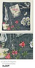 BEAUTIFUL VINTAGE ITEMS SCENE / DISPLAY HANDKERCHIEF