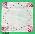 WEDDING HANDKERCHIEF WITH ROSES, ROSES, ROSES