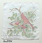 PAIR OF CARDINALS HANDKERCHIEF