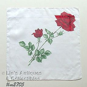 RED ROSES HANDKERCHIEF