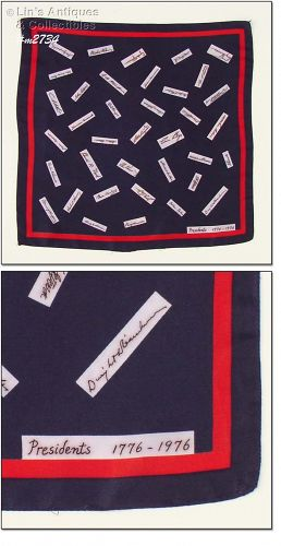 SCARF WITH PRESIDENTIAL �SIGNATURES�