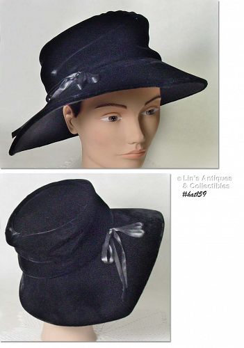 BEAUTIFUL BLACK VELVET HAT