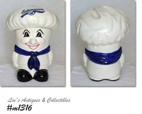 VINTAGE ENTENMANN'S CHEF COOKIE JAR DATED 1992