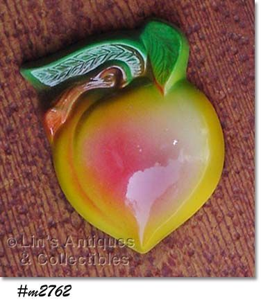 MILLER STUDIO COLORFUL CHALK PEACH WALL HANGING PLAQUE MINT IN BOX