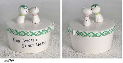 HOLT HOWARD � VINTAGE KOZY KITTEN STINKY CHEESE CONTAINER