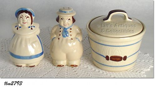 SHAWNEE POTTERY DUTCH BOY AND GIRL RANGE SET