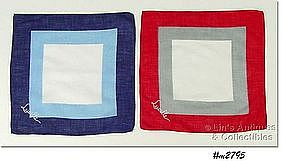 TWO MONOGRAM HANKIES FOR LUCILLE