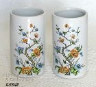 "McCOY POTTERY PAIR OF MATCHING 5 3/4"" TALL FLORAL VASES"