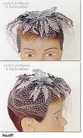 GRAY NETTING HAT/HEAD COVERING