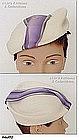 FANCY BERET STYLE WHITE HAT