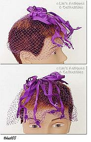 PURPLE NETTING HAT/HEAD COVERING