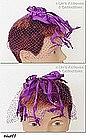 PURPLE NETTING HAT/HEAD COVERING