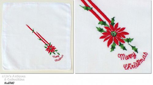 RED CANDLES AND �MERRY CHRISTMAS� HANKY