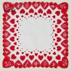 LOTS AND LOTS OF RED HEARTS VALENTINE HANKY