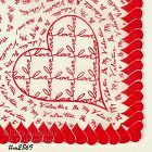 VINTAGE VALENTINE HANKY HEARTS WITH TERMS OF ENDEARMENT