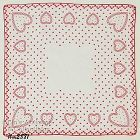 VINTAGE VALENTINE HANKY WITH LOTS OF RED HEARTS