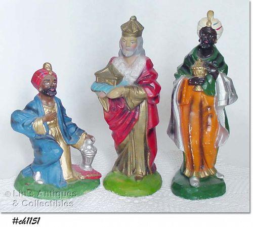 THREE WISE MEN FIGURINES (ITALY)