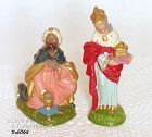 TWO WISE MEN FIGURINES (ITALY)