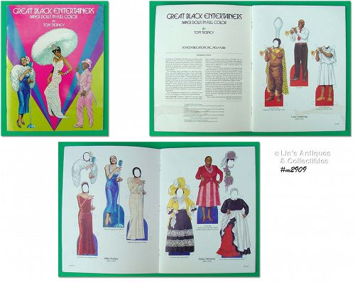 PAPER DOLL BOOK �BLACK ENTERTAINERS� BY TOM TIERNEY