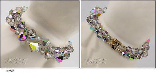 AURORA BOREALIS GLASS BEAD BRACELET
