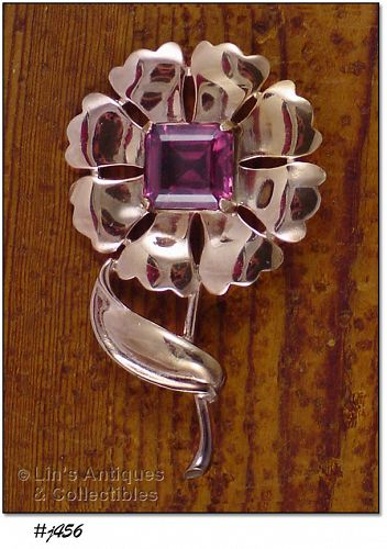 VINTAGE FLOWER PIN (LARGE SIZE)
