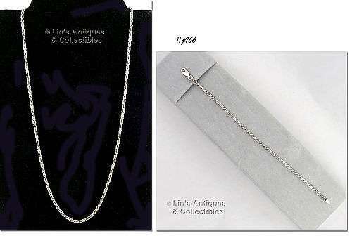 ITALIAN STERLING SILVER ROPE NECKLACE AND MATCHING BRACELET