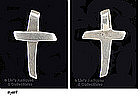 SMALL CROSS PENDANT (STERLING)