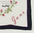 MONOGRAM HANDKERCHIEF FOR �JANE�