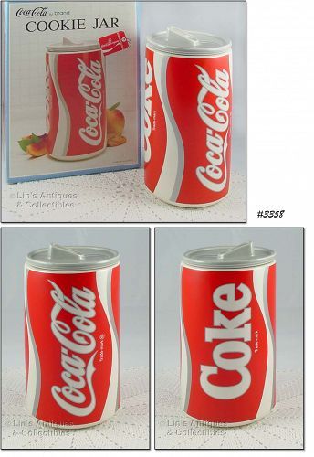 McCOY POTTERY COKE CAN COCA COLA COOKIE JAR WITH ORIGINAL BOX
