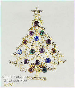 EISENBERG ICE � MULTI-COLOR CHRISTMAS TREE PIN