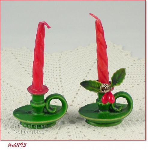 GURLEY PAIR OF CHAMBER STYLE CANDLES