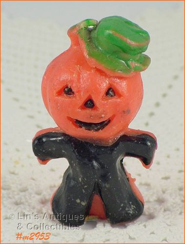 VINTAGE GURLEY PUMPKIN HEAD HALLOWEEN CANDLE