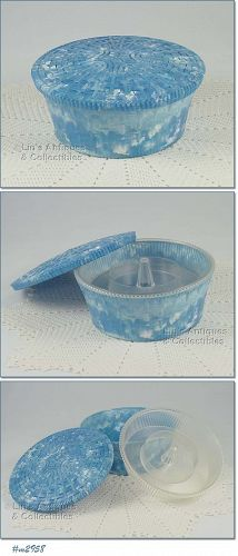 VINTAGE HOMMER ROUND SHAPED SEWING BASKET SEWING BOX
