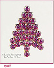 EISENBERG ICE � PINK RHINESTONES CHRISTMAS TREE PIN