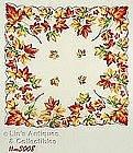 HANDKERCHIEF WITH COLORFUL FALL LEAVES