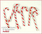 6 CHENILLE CANDY CANE ORNAMENTS