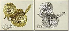 PAIR OF VINTAGE BIRD ORNAMENTS