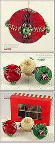 HOLT-HOWARD � HONEYCOMB BAUBLES ORNAMENTS (6)