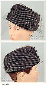 DARK BROWN HAT BY �PASADENA HATS�