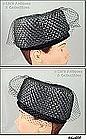 �JULI-KAY� RAFFIA HAT (BLACK)