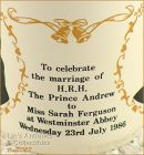 Prince Andrew and Sarah Ferguson Wedding Commemorative Cup