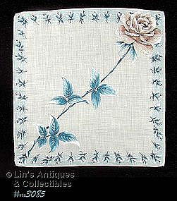 HANDKERCHIEF WITH LARGE ROSE
